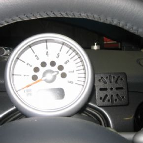 No holes rev counter mount